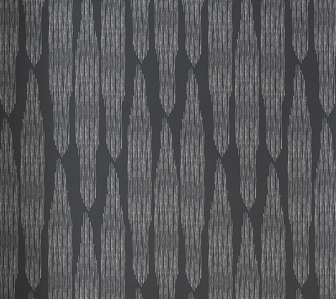 Pines Charcoal Linen Wallpaper