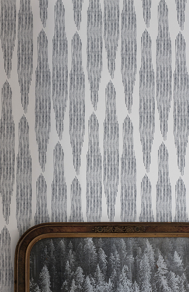 Pines Oyster Linen Wallpaper