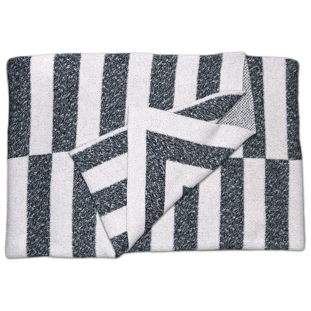 Aquino Onyx Cotton Throw Blanket