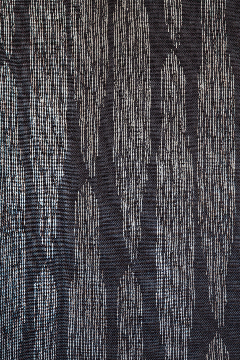 Pines Charcoal Linen