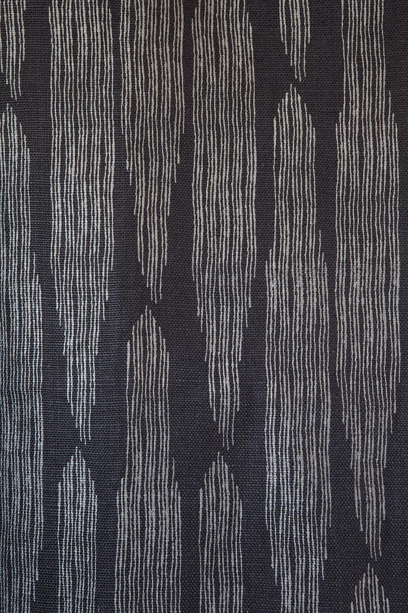 Pines Charcoal Linen
