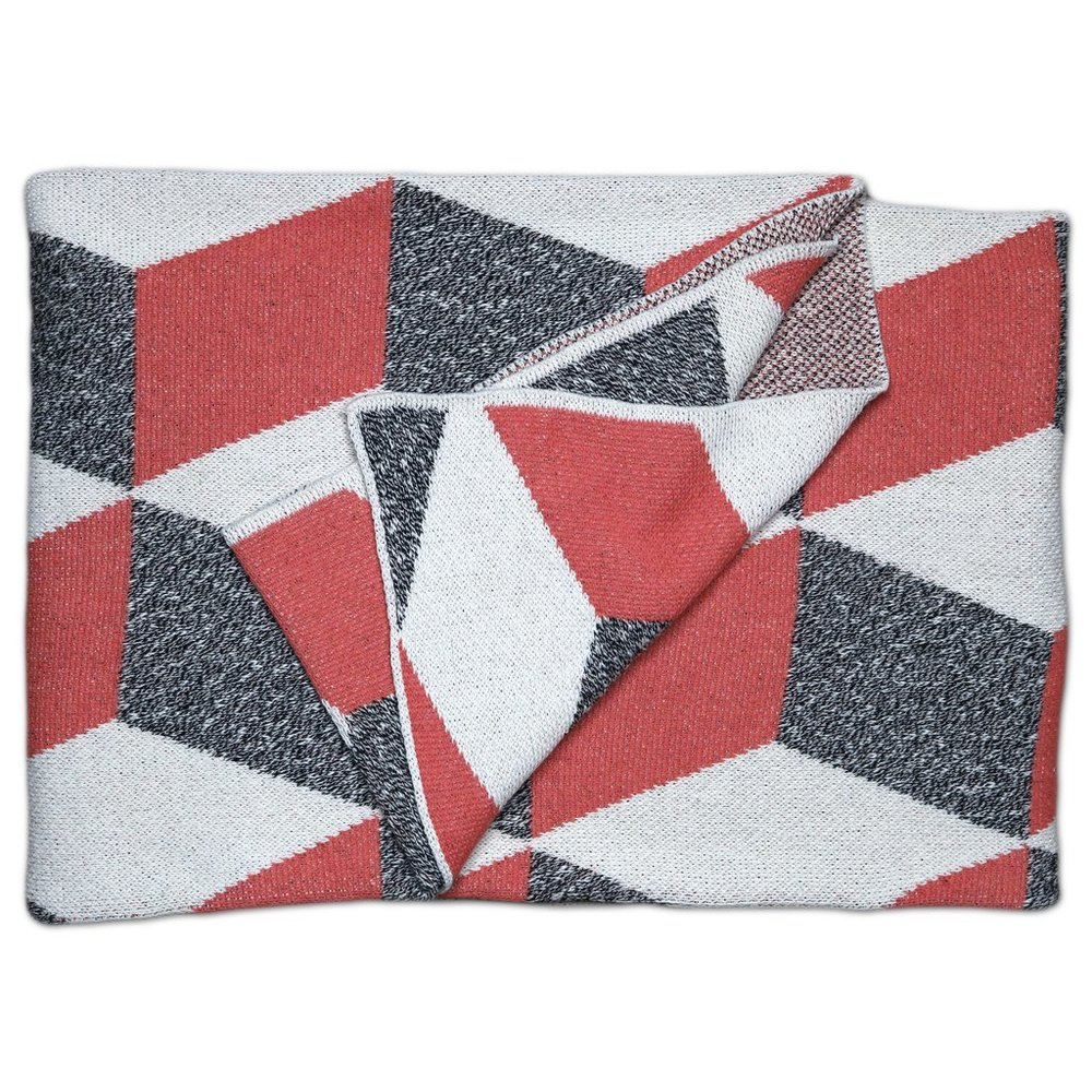 Taormina Rouge Cotton Throw Blanket