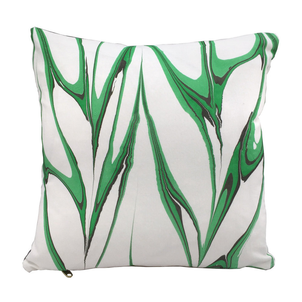 Marbled Pillow Malachite 50x50