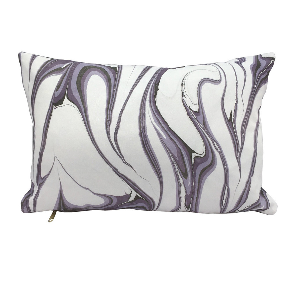 Marbled Pillow Amethyst Lumbar