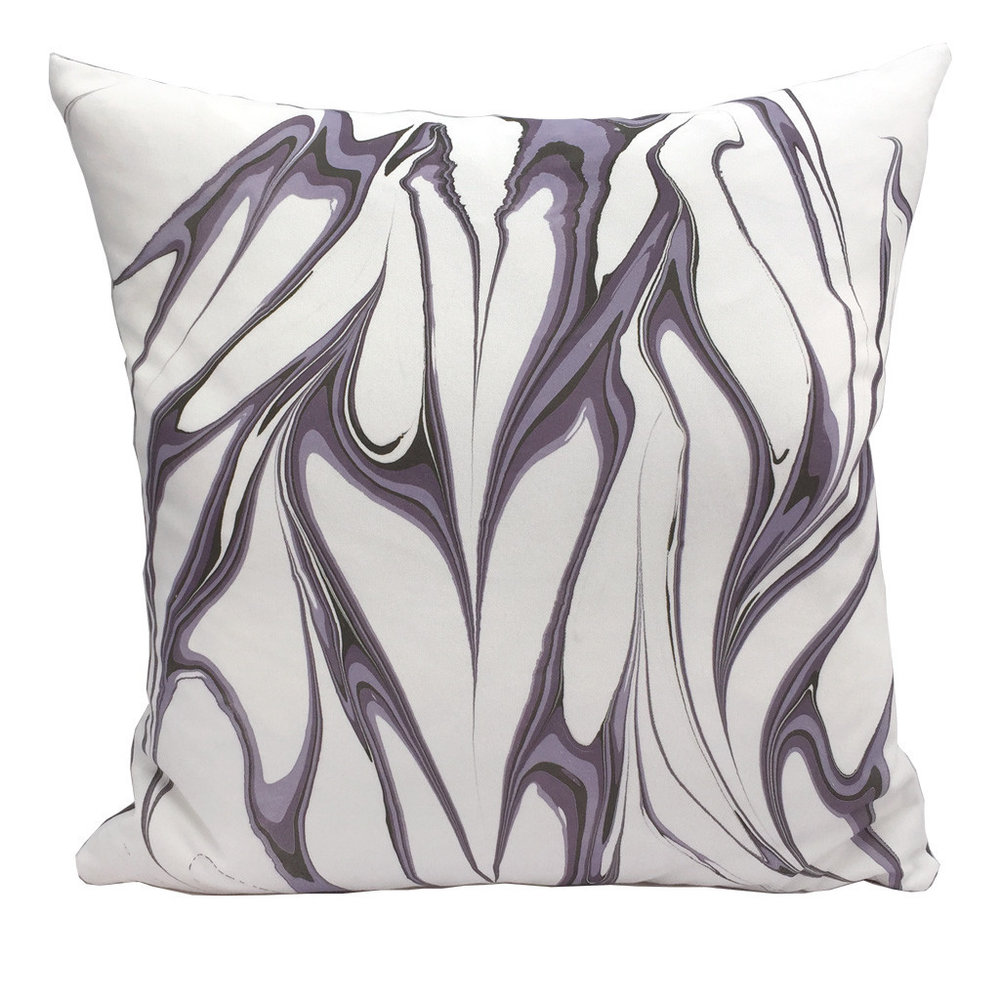 Marbled Pillow Amethyst 50x50