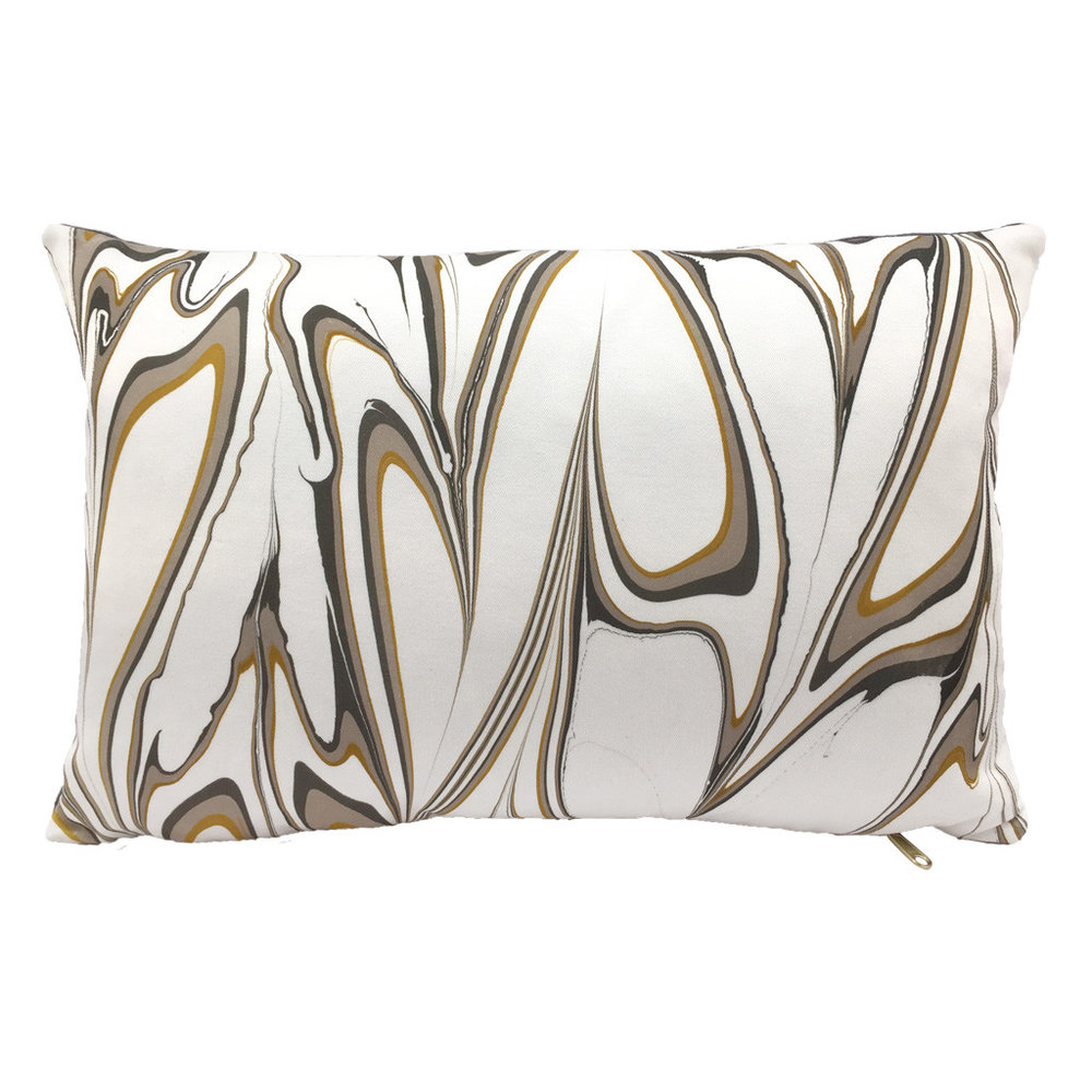 Marbled Pillow Ochre Lumbar