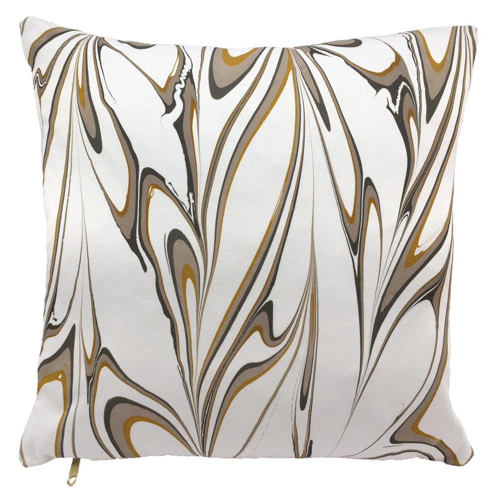 Marbled Pillow Ochre 50x50