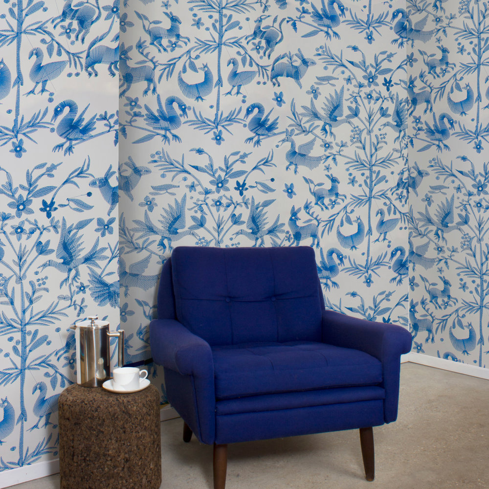 Aves - Navy feature wall