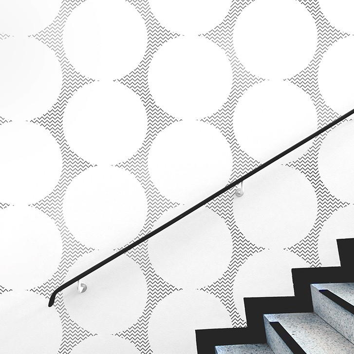 Curve Geometric - Pewter wall