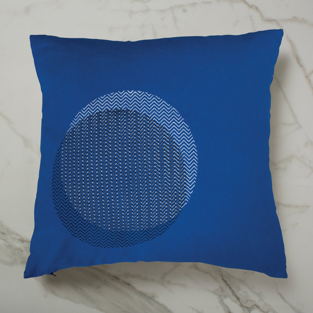 Curve Cushion - Blue Inside