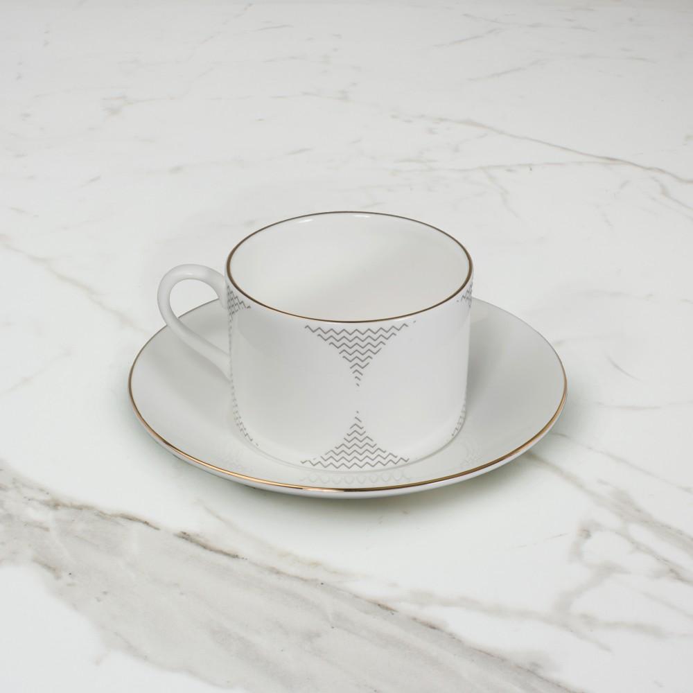Curve Cup+Saucer No.3