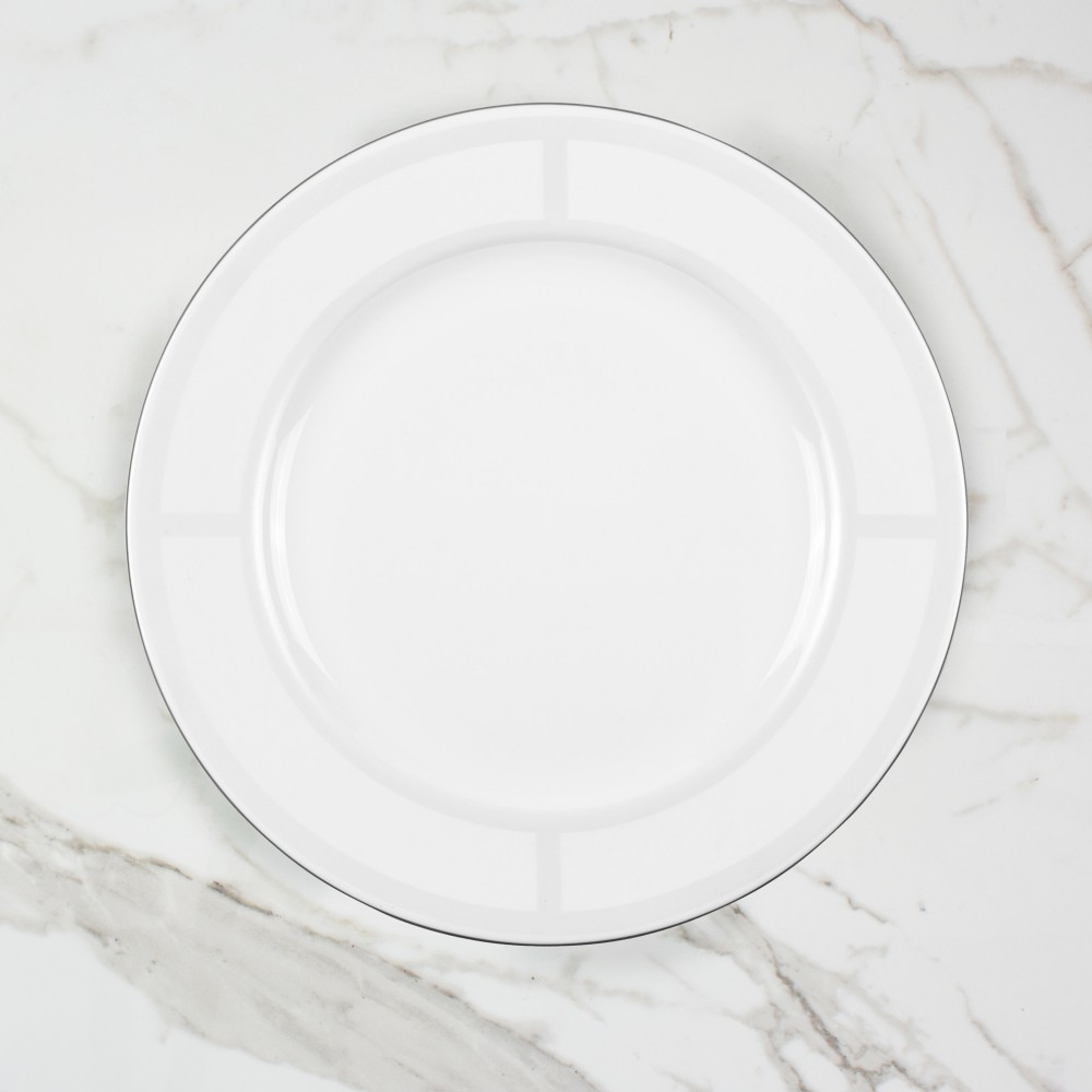 Palladian Dinner Plate - Brooklyn White