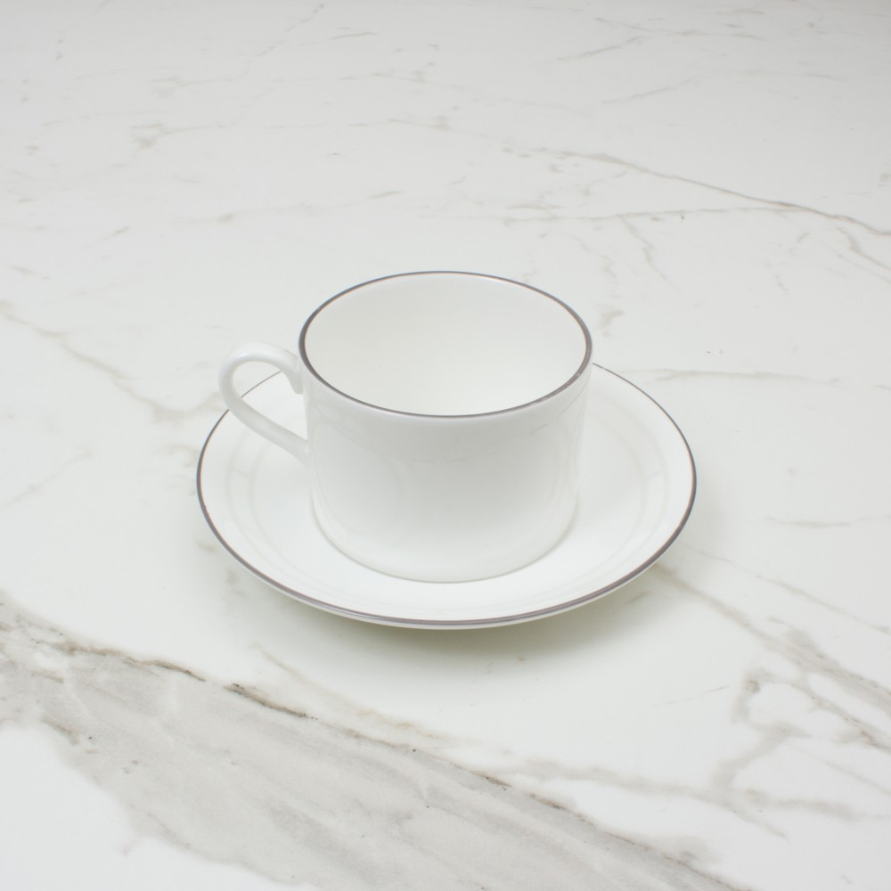 Palladian Tea Cup+Saucer No.1 Brooklyn White