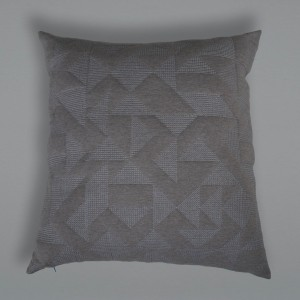 Goldsmiths Floor Cushion - Grey with Grey Stitching