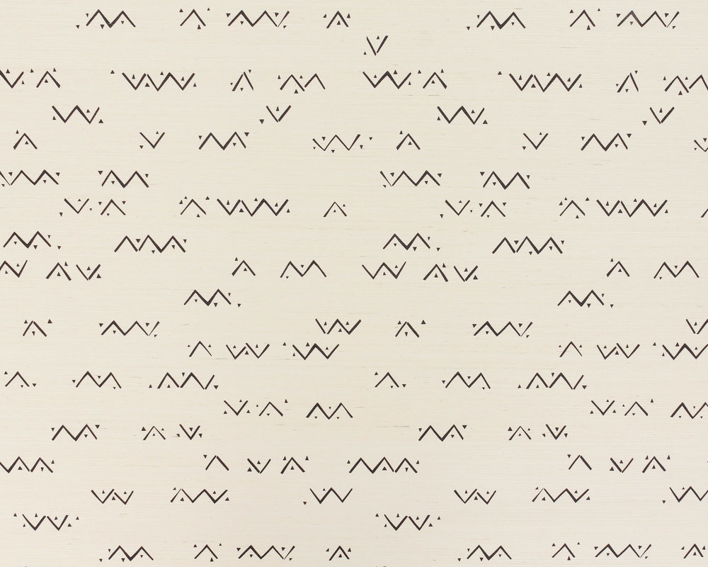 Loxo Onyx Grasscloth Wallpaper