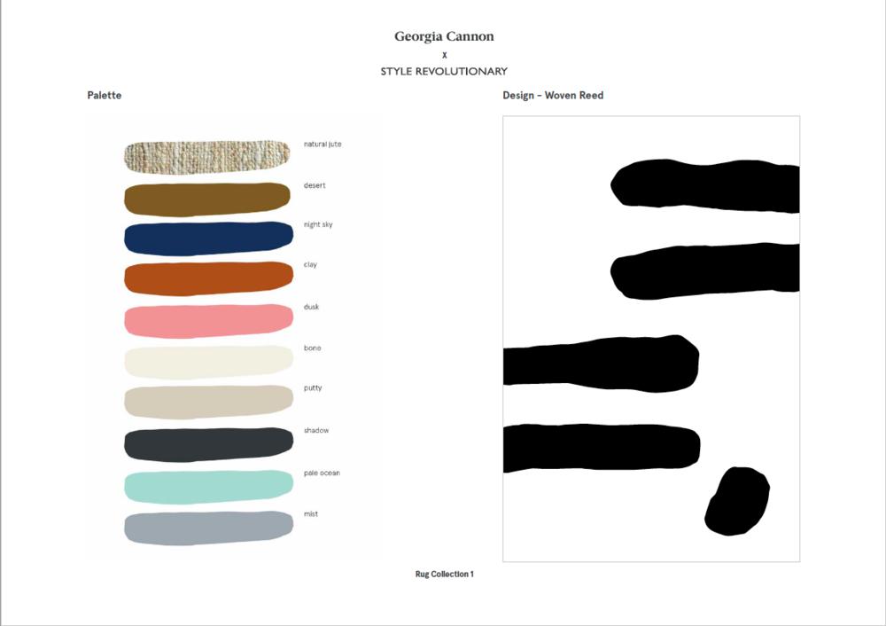 Rug Custom Colour Palette / Woven Reed Design