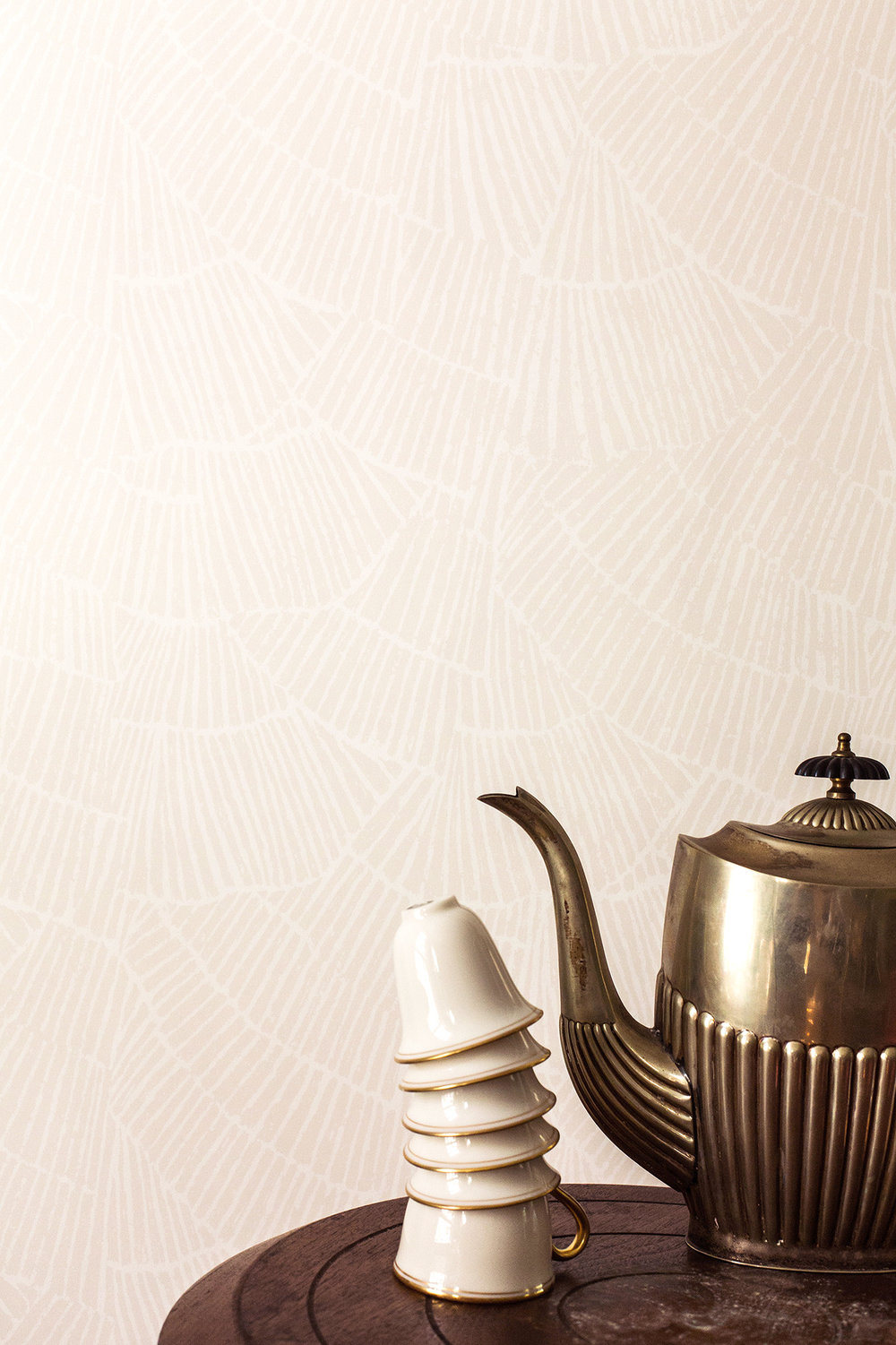 Pleat Cream Wallpaper