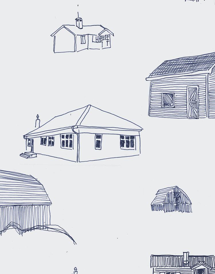 Homes detail - Ballpoint Pen on Grey Paper