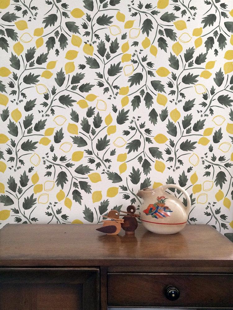 Lemon Grove - Turtle and Lemon on Paper