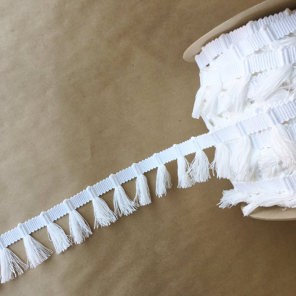 Gypsy Tassel Fringe Bleached White