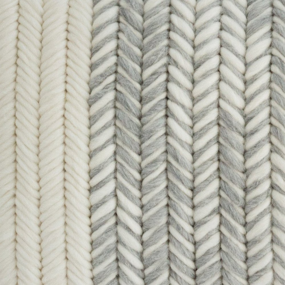 Textured Pillow Heathered Gray Herringbone detail