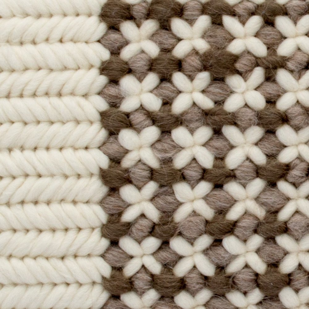Textured Pillow Soft Brown Trellis detail