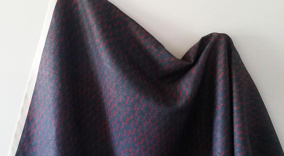 Heartcloth in Indigo/Red