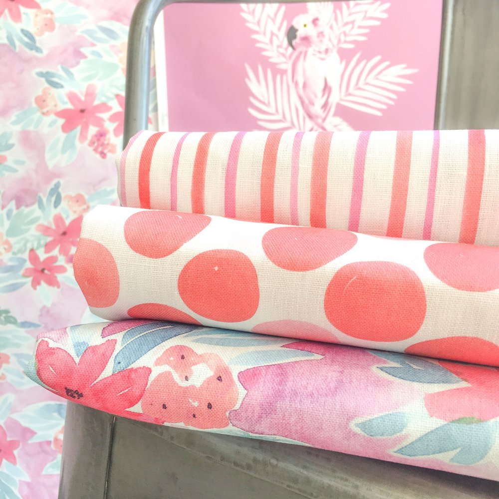 Bettina, Morgan, Juliet fabrics