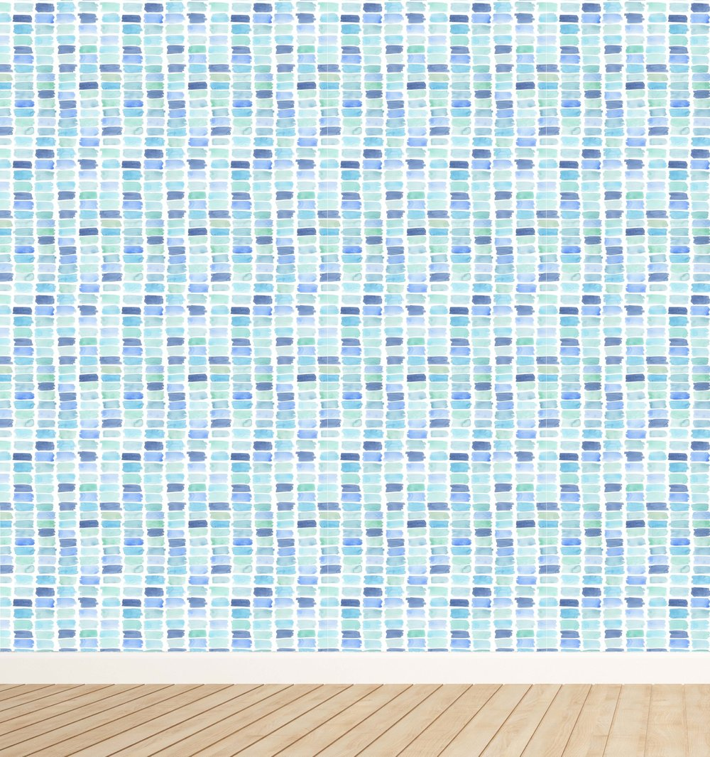 Emerson in Seaglass Wallpaper