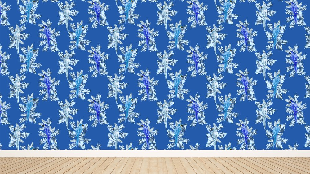 Polly in Blue Wallpaper