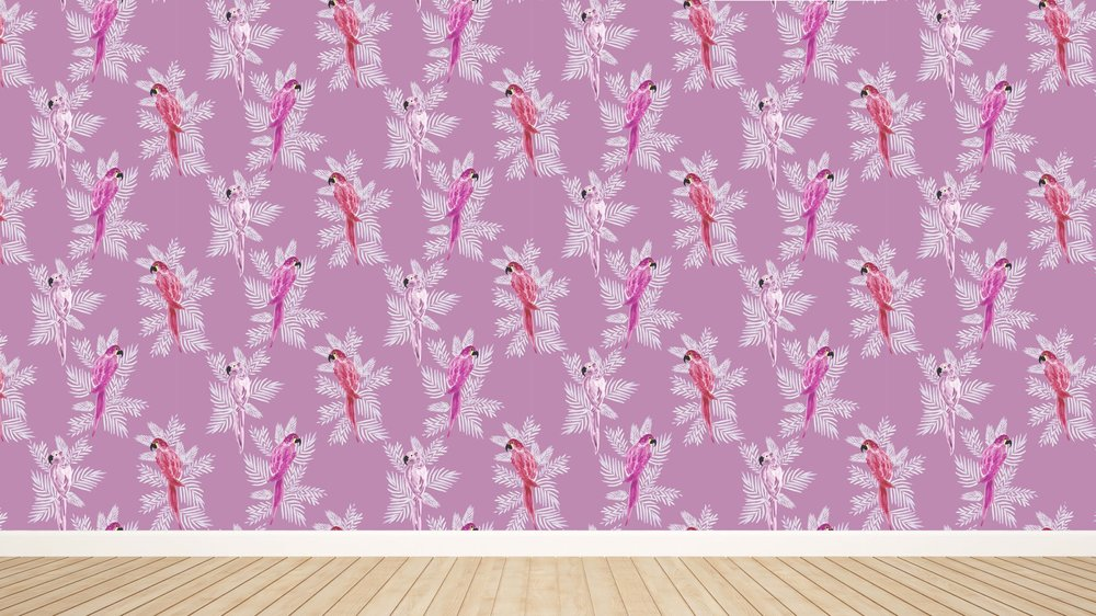 Polly in Magenta Wallpaper