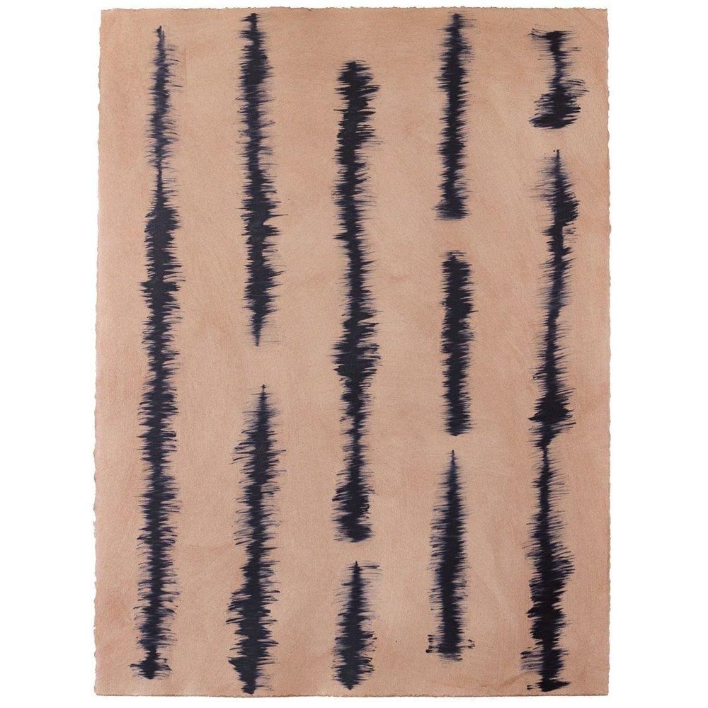 Good Vibrations - Copper/Indigo - Hand-painted sheet wallpaper