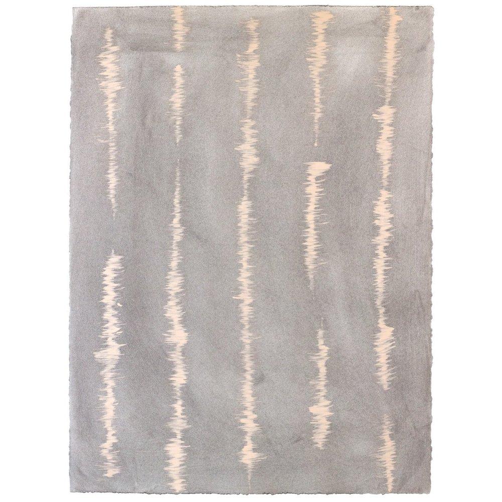 Good Vibrations - Smoke/Blush - Hand-Painted Sheet Wallpaper