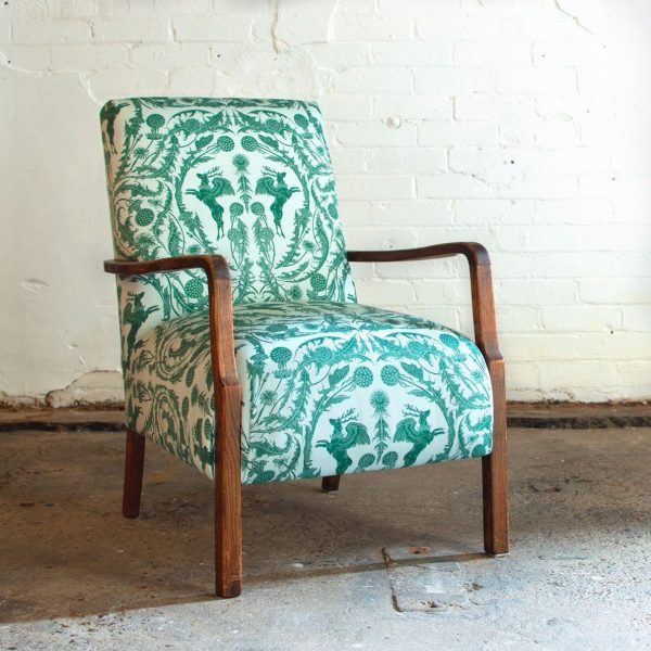 King Peryton Green on Chair