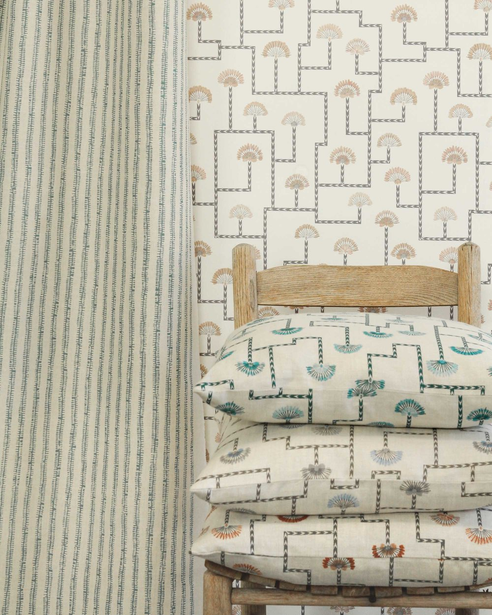 Path & Indos wallpaper and fabric