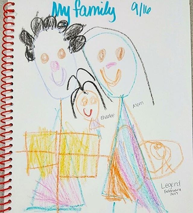 4. Included drawings like these into your yearly time capsule of tangible memories documented #IAM4FATHERS #drawing#illustration#timecapsule#art#familyportrait