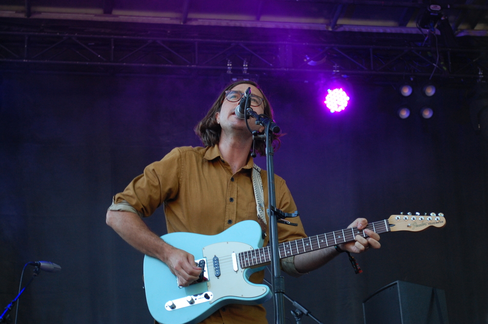Martin Courtney serenading the crowd on Saturday at the Blue Stage