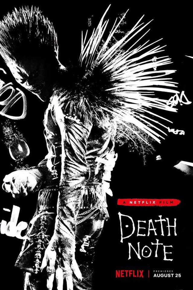 Official movie poster for Netflix's Death Note