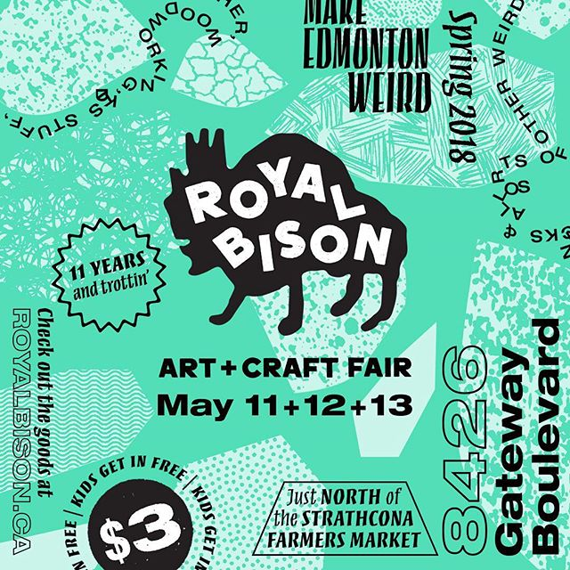 It's here!  It's here!  @theroyalbison is happening this weekend.  Great food, art, coffee, people, heck, even the weather is cooperating! 🌞😎🌼