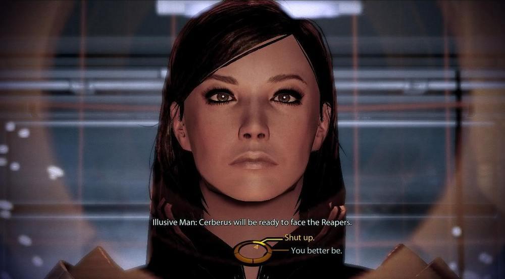 Imagem de um dos moldes de Shepard mulher para Mass Effect 2.