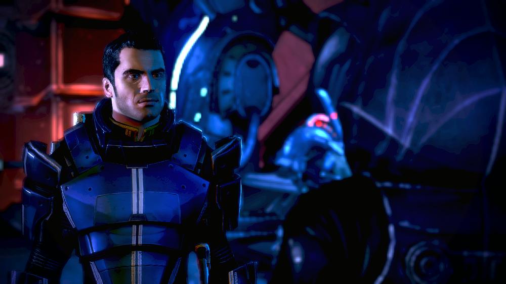 Screenshot do site de Mass Effect 1.