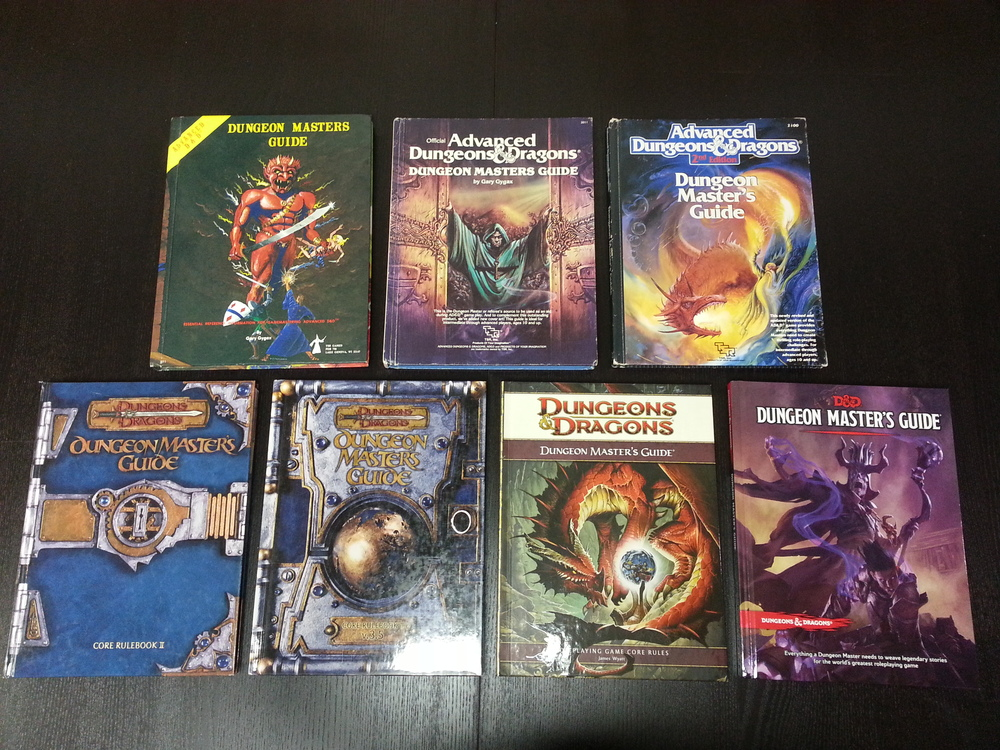 Exemplos de livros de RPG de D&D da Wizards of the Coast. #RPG #DeliDaPersy