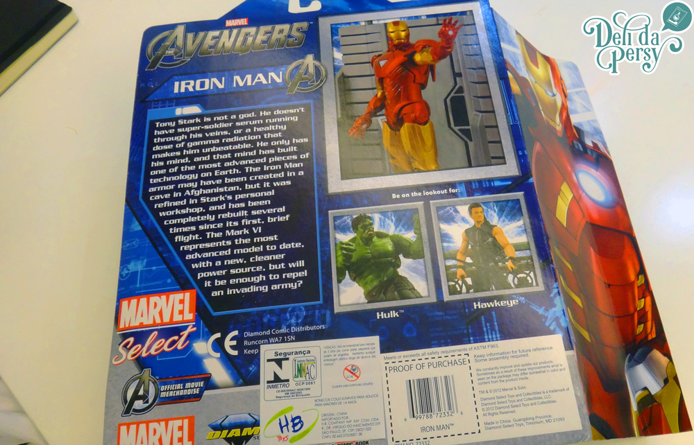 Infelizmente Action-figure não costuma vir em caixa, só em Clamshell Package (esses envelopes de plastico duro). #Iron-Man #Marvel #Action-Figure #DeliDaPersy