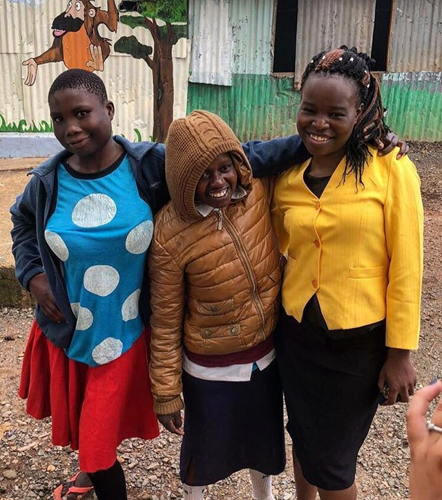 Whinnie and Consolata are all smiles when spending the day with Teacher Susan!