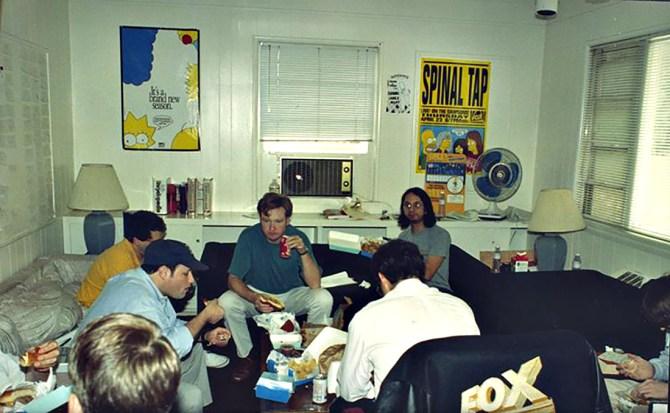 """""""La sala de guionistas de """"Los Simpsons"""" en 1992"""""""