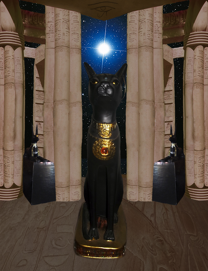 Created with Adobe Photoshop A photo composite of the Temple of Bastet.