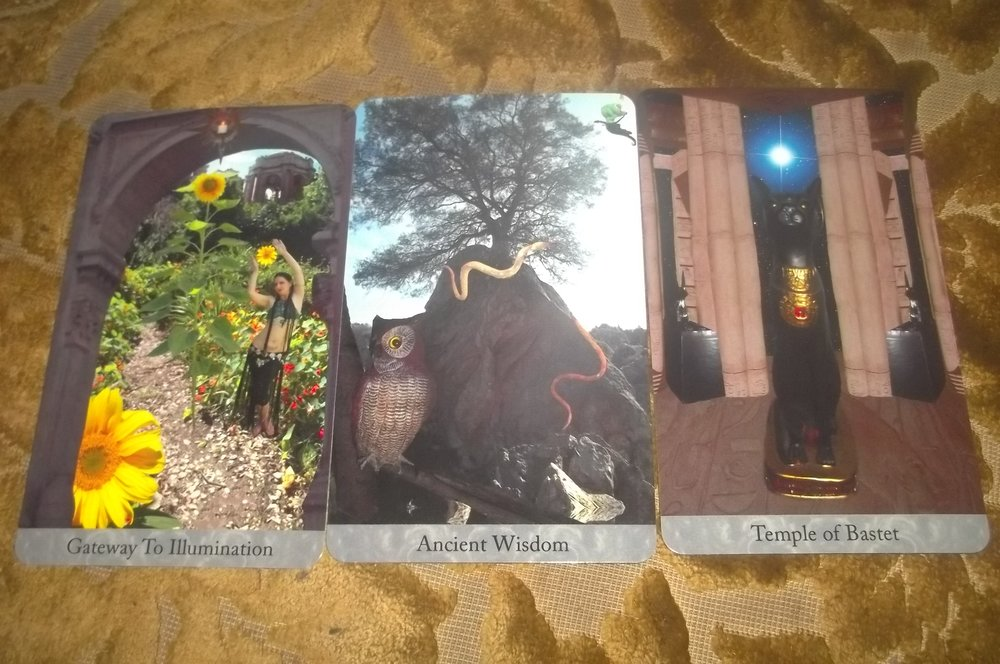 Three cards from the deck