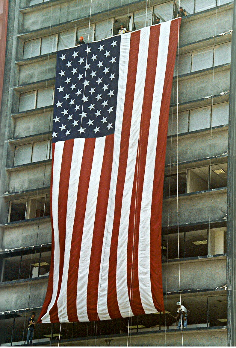 The Flag - 1 Liberty Street, September 22, 2001. Photo by: Denise Lutrey Casalinuovo