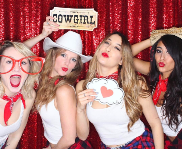 cowboy theme party photo booth