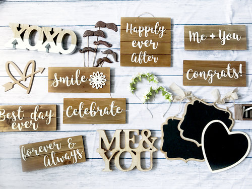 Rustic Wedding Photo Booth Prop Package